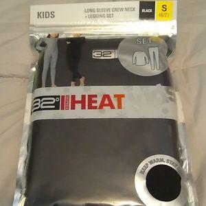 Kids thermal set black new in package.